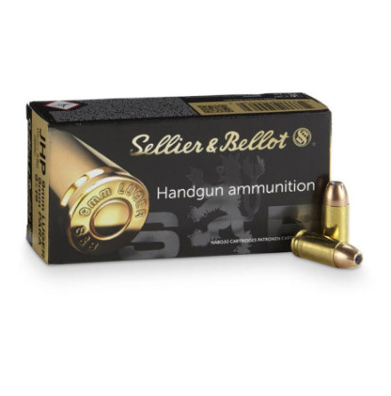 Sellier & Bellot 9mm Luger 115gr FMJ 250/Ask