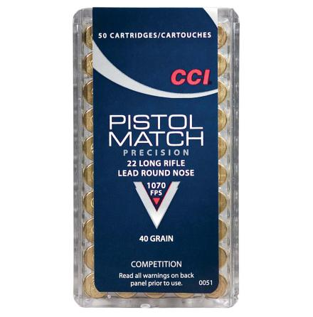 CCI 22lr Pistol Match
