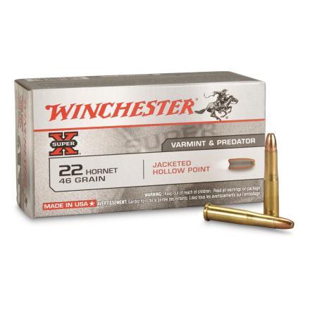 Winchester .22 Hornet 46gr J HP
