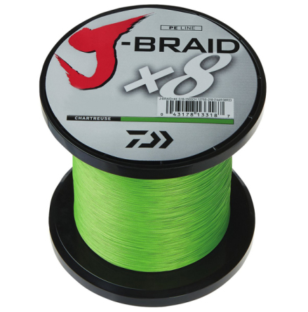 Daiwa J-Braid x8 0.16mm 1500M 9kg Chartruese Ord 1499:-