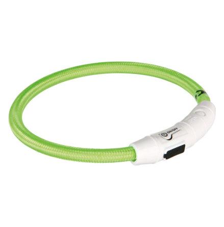 Hundhalsband Flash light ring Limegrön