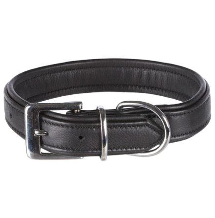 Halsband Active Comfort, Svart läder