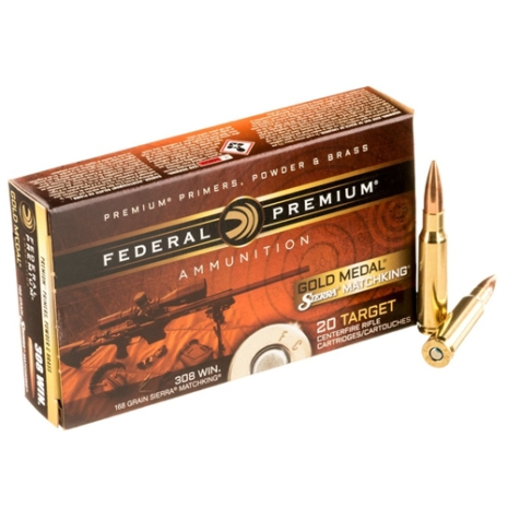 Federal Gold Medal 308win 168gr Sierra Matchking