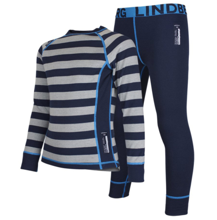 Lindberg Merino Set Barn Stripe Navy