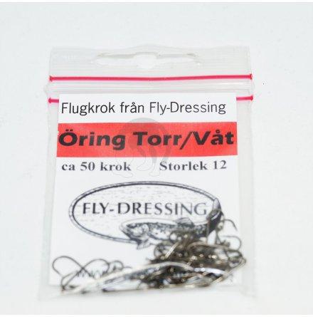 Flydressing Flugkrok Öring Torr/Våt #12