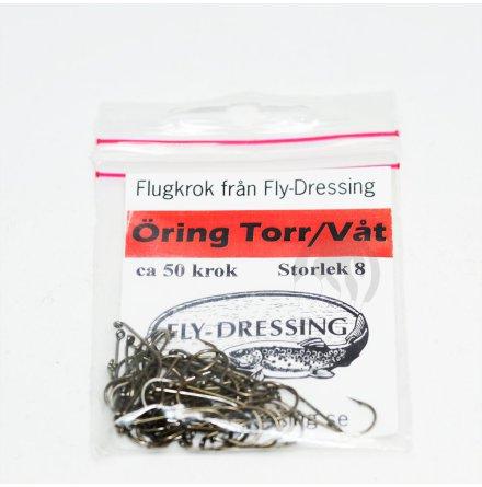 Flydressing Flugkrok Öring Torr/Våt #8