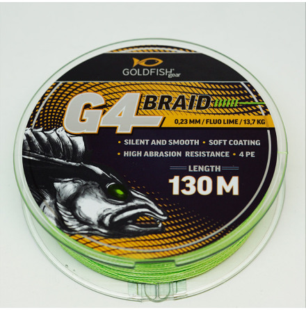 Goldfish G4-Braid 0.13 Fluo Lime