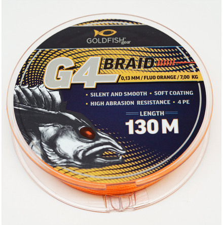 Goldfish G4-Braid 0.13 Fluo Orange