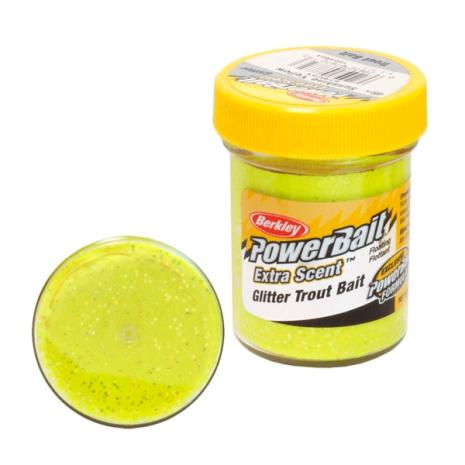 PowerBait Glitter Trout Bait Sunshine Yellow