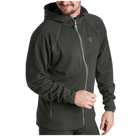 Termo Wool Original Hoodie Full Zip Grey Melange
