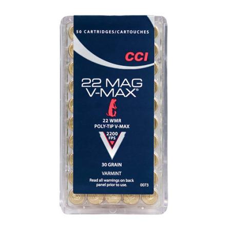 CCI 22WMR 30gr V-Max Polytip