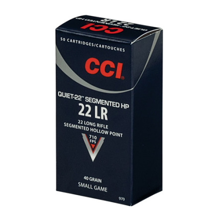 CCI 22LR 40gr Quiet Segmented HP