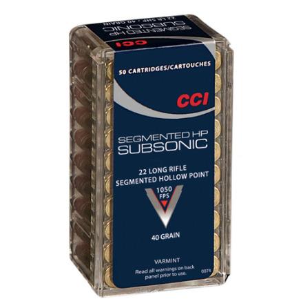 CCI 22LR 40gr Segmented HP Subsonic