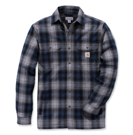 Carhartt Hubbard Sherpa Lined Shirt Jac Relaxed Fit Twilight