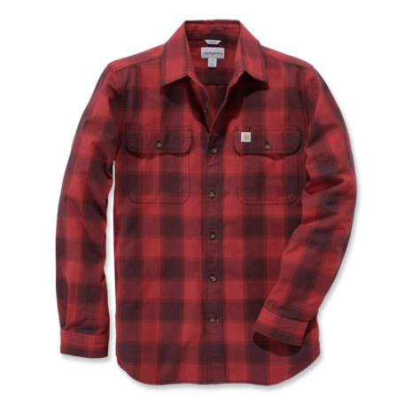 Carhartt Hubbard Slim Fit Flanell Shirt Dark Crimson