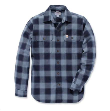 Carhartt Hubbard Slim Fit Flannel Shirt Steel Blue