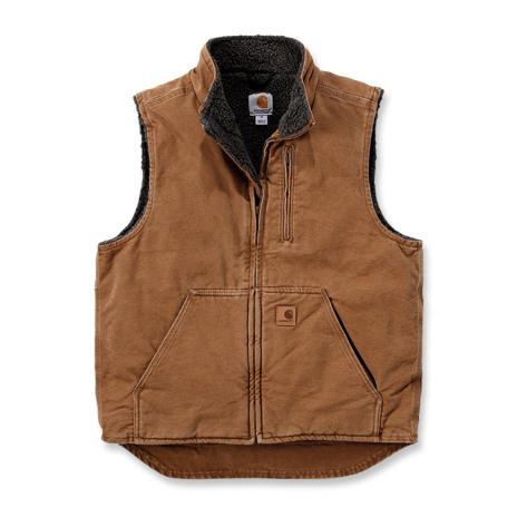 Carhartt Sandstone Mock Neck Vest Brown