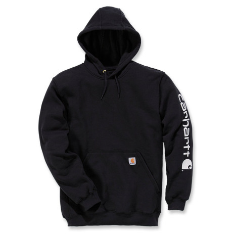 Carhartt Sleeve Logo Hooded Black