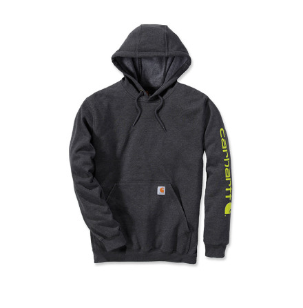 Carhartt Sleeve Logo Hooded Carbon Heather