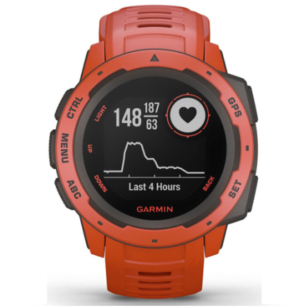 Garmin Instinct Klocka Flame red