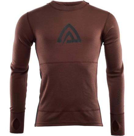 Aclima Warmwool HoodSweater Bitter Choclade/Jet Black
