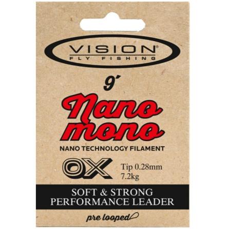 Vision Nano Mono Leader Flugfisketafs 0X-7X