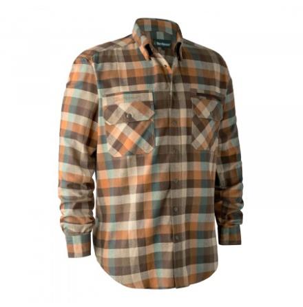 Deerhunter James Skjorta Brown Check