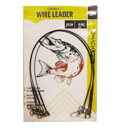 Armada Gäddtafs Wire Leader 20cm 15kg