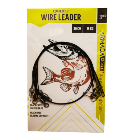 Armada Gäddtafs Wire Leader 30cm 15kg