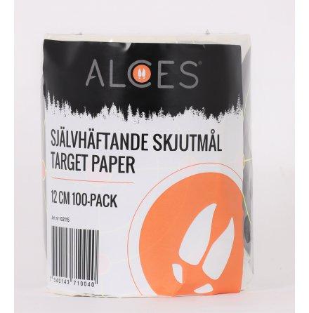 ALCES Självhäftande skjutmål 12cm 100 pack