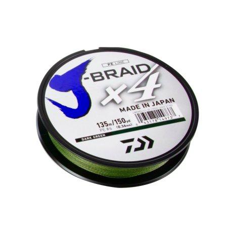 Daiwa J-Braid x4 135M Dark Green