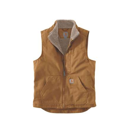 Carhartt Washed Duck Lined Mock Neck Vest