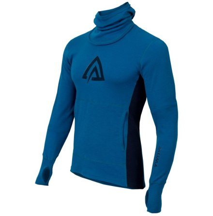 Aclima Warmwool HoodSweater Man Brilliant Blue/Peacot