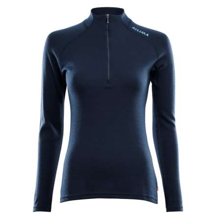 Aclima Warmwool Mockneck Shirt Dam - Navy Blazer