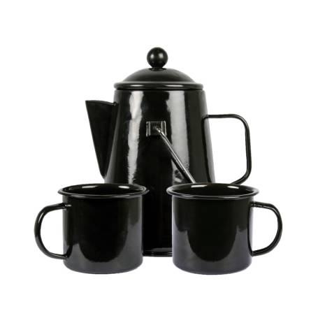 Espegard Kaffeset Emaljerad med 2 Muggar