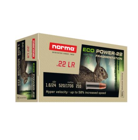 Norma ECO Power Hp 22 lr V0 520 m/s