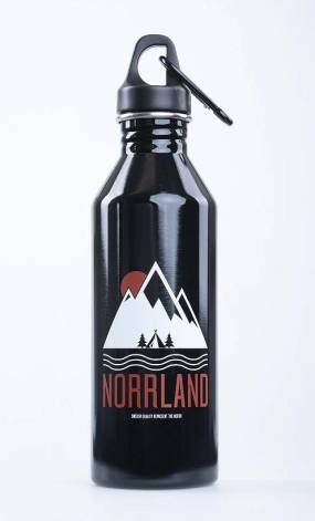 Great Norrland Wavy flaska Svart 800ml Flaska
