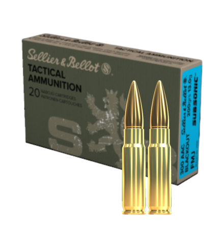 S&B 300AAC BLK 200gr FMJ Subsonic