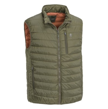 Pinewood Brenton Vest Brown/ Burned Organge