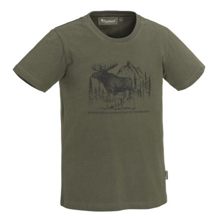 Pinewood Moose T-Shirt KID Green