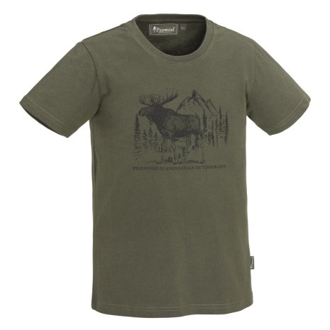 Pinewood Moose T-Shirt KID Green