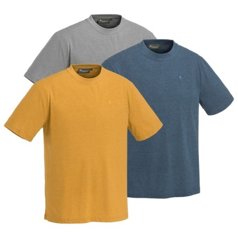 Pinewood T-Shirt 3-Pack S L.Grey/ D.Dive/ D.Must