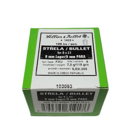 S&B Kula 9mm Luger 124 gr 100st