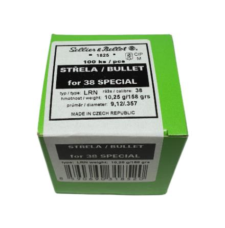 S&B Kula .38 158 gr LRN 100st