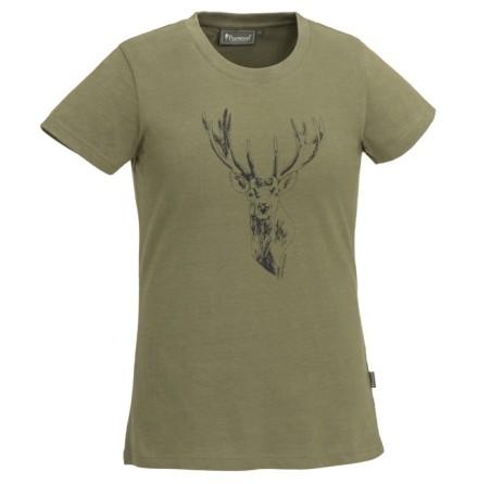 Pinewood Red Deer T-Shirt Dam H.Olive
