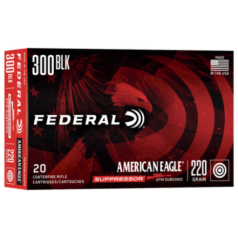 Federal 300 BLK 220gr OTM Subsonic