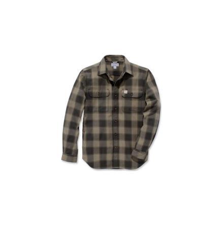 Carhartt Hubbard Slim Fit Flannel - Burnt Olive