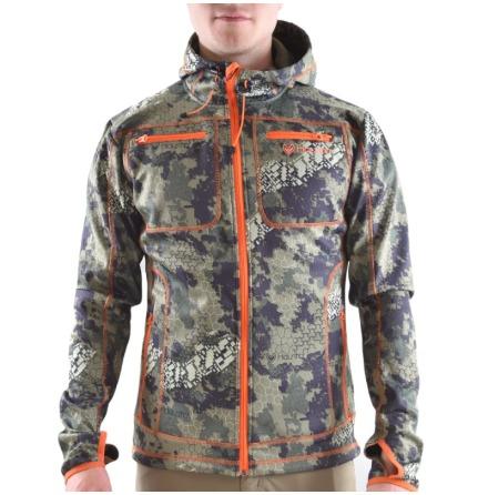 Haunter softshell hoodie Camo/Orange