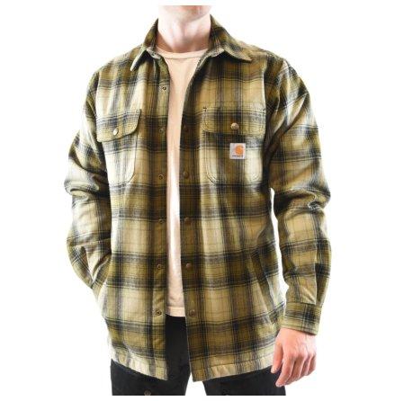 Carhartt Hubbard Sherpa Lined Shirt Fir Green