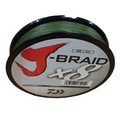 Daiwa J-Braid x8 0.24mm 150M 18.1kg Dark Green